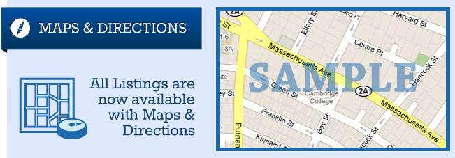 Maps & Directions - All Listings are available now with Maps & Directions